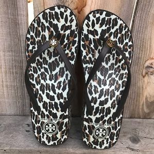 Tory Burch Leopard- pattered sandals